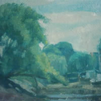 Boats in the Shade – James Carey-Wilson – Fine Art and Specialist Decorative Painting – Surrey Art Gallery