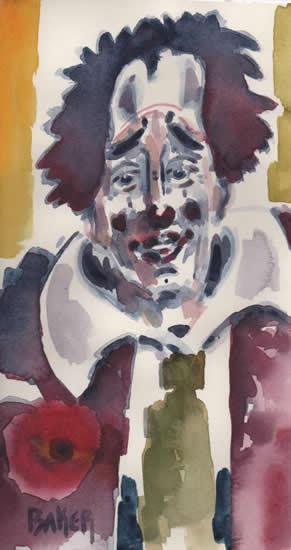 Russian Clown - Clown Artist - Miles Baker - Devon Artist