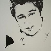 Brad Pitt Portrait – Surrey Artist Chris Cunningham – Portrait Artist – Commissions Invited for Paintings of Film Stars, Rock Stars, Anyone Else