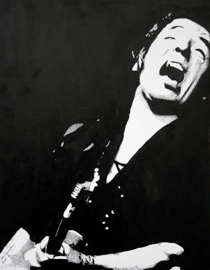 Bruce Springsteen, Musician Portrait - Surrey Artist Chris Cunningham - Portrait Artist - Commissions Invited for Paintings of Film Stars, Rock Stars, Anyone Else