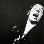 Bruce Springsteen Portrait – Surrey Artist Chris Cunningham – Portrait Artist – Commissions Invited for Paintings of Film Stars, Rock Stars, Anyone Else