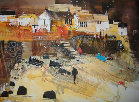 Cadgwith, Cornwall - Heading For Home - Nagib Karsan - Artist in Watercolours, Mixed Media and Collage - Guildford Art Society