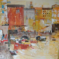Camogli, Italy – Harbour View – Nagib Karsan – Artist in Watercolours, Mixed Media and Collage – Guildford Art Society