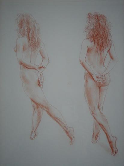 Carolyn (one of pair) - Paintings and Drawings in various Media - Vanessa Kennedy - Surrey Artist - Surrey Art Gallery