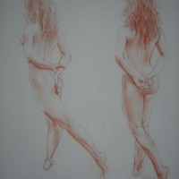 Carolyn (one of pair) – Paintings and Drawings in various Media – Vanessa Kennedy – Surrey Artist – Surrey Art Gallery