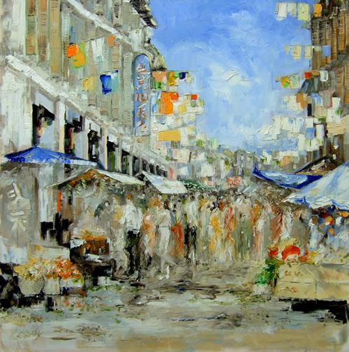 Chinatown - Far East Gallery - Chris Elsden - Original Paintings and Fine Art Prints - Devon Artist