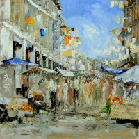 Chinatown – Far East Gallery – Chris Elsden – Original Paintings and Fine Art Prints – Devon Artist