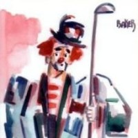 Clown – End of the Game – Golf – Clown Artist – Miles Baker – Devon Artist