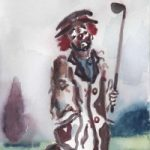 Clown – Oh! I've Lost Me Balls! – Clown Artist – Miles Baker – Surrey Art Gallery