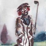 Clown – Oh! I've Lost Me Balls! – Clown Artist – Miles Baker – Surrey Art Gallery