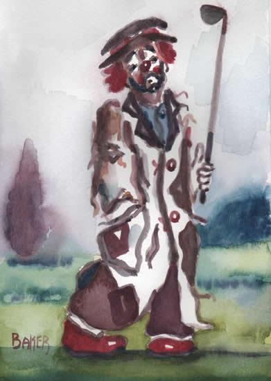 Clown - Oh! I've Lost Me Balls! - Clown Artist - Miles Baker - Surrey Art Gallery
