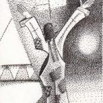 Clown – Welcome to the Greatest Show on Mirth – Pointillism – Clown Artist – Miles Baker – Devon Gallery