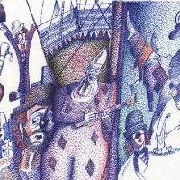 Clowns – Pointillism – The Mess Vol 158 – Clown Artist – Miles Baker – Devon Gallery