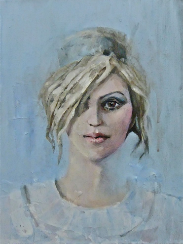 Colour Portrait of Woman - Alcestis - Surrey Artist Ronnie Ireland - Guildford Art Society, Farnham Art Society, Woking Art Society