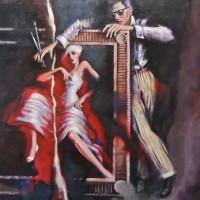 Torn Picture – Shades – Surrey Artist Ronnie Ireland – Guildford Art Society, Farnham Art Society, Woking Art Society