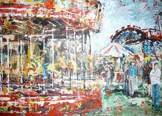 Fairground - Grainne Roche - Fine Artist - Byfleet Art Group - Woking Society of Arts - Surrey Art Gallery