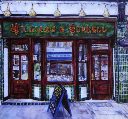 Fishmongers Shop - Susie Lidstone - Surrey Artist - Society of Architectural Illustration, Society for All Artists (1)