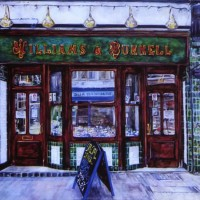 Fishmongers Shop – Susie Lidstone – Surrey Artist – Society of Architectural Illustration, Society for All Artists