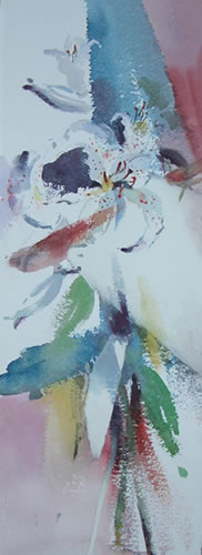 Flowers - Auratum Lily - Kim Page - Paintings in Watercolour and Oil - Surrey Art Gallery - England