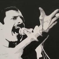 Freddie Mercury, Queen - Guildford Artist Chris Cunningham