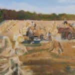 Gathering the Harvest – English Countryside – Rodney Thomas Annetts – Woking Society Of Arts – Surrey Artists Gallery