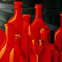 Glass Flame – Cubist-Style – Abstract – Tiffany Budd – Fine Artist – The Fine Art Trade Guild – Surrey Artists Gallery