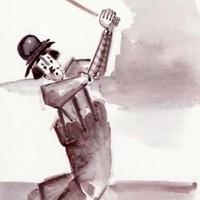 Golfer Clown – Clown Artist – Miles Baker – Devon Artist