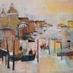 Grand Canal 2, Venice, Italy – Nagib Karsan – Artist in Watercolours, Mixed Media and Collage – Guildford Art Society