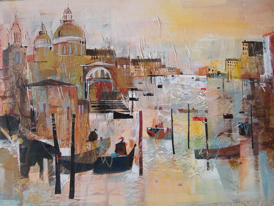 Grand Canal 2, Venice, Italy - Nagib Karsan - Artist in Watercolours, Mixed Media and Collage - Guildford Art Society
