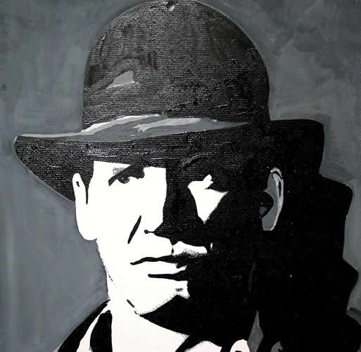Harrison Ford Film Star Portrait - Surrey Artist Chris Cunningham - Portrait Artist - Commissions Invited for Paintings of Film Stars, Rock Stars, Anyone Else