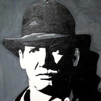 Harrison Ford Portrait – Surrey Artist Chris Cunningham – Portrait Artist – Commissions Invited for Paintings of Film Stars, Rock Stars, Anyone Else