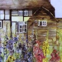 House Portrait Example – Cathy's Cottage – Susie Lidstone – Surrey Artist – Society of Architectural Illustration, Society for All Artists