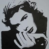 Ingrid Bergman Portrait – Surrey Artist Chris Cunningham – Portrait Artist – Commissions Invited for Paintings of Film Stars, Rock Stars, Anyone Else