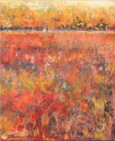 Italian Landscape - Grainne Roche - Fine Artist - Byfleet Art Group - Woking Society of Arts - Surrey Art Gallery