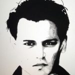 Johnny Depp Portrait – Surrey Artist Chris Cunningham – Portrait Artist – Commissions Invited for Paintings of Film Stars, Rock Stars, Anyone Else