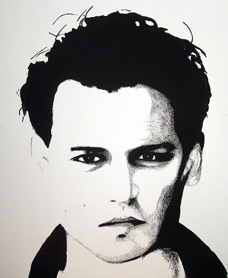 Johnny Depp Portrait - Surrey Artist Chris Cunningham - Portrait Artist - Commissions Invited for Paintings of Film Stars, Rock Stars, Anyone Else