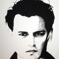 Johnny Depp Portrait – Surrey Artist Chris Cunningham – Portrait Artist – Commissions Invited for Paintings of Film Stars, Rock Stars, Anyone Else