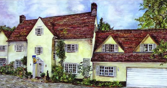 Kleibers House - Painting Commission - Susie Lidstone - Surrey Artist - Society of Architectural Illustration (1)