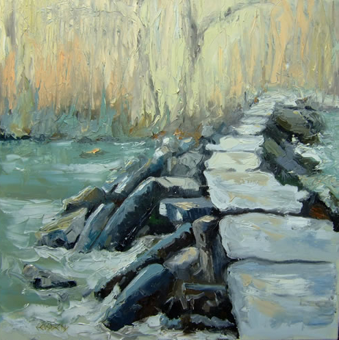 Landscape - Tarr Steps, Exmoor, Devon - Chris Elsden - Original Paintings and Fine Art Prints - Devon Artist