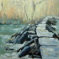Landscape – Tarr Steps, Exmoor – Chris Elsden – Original Paintings and Fine Art Prints – Devon Artist