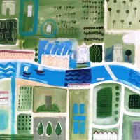 Large Map 1 – Hampshire Artist Jan Rippingham – Paintings in Acrylics – Surrey Art Gallery