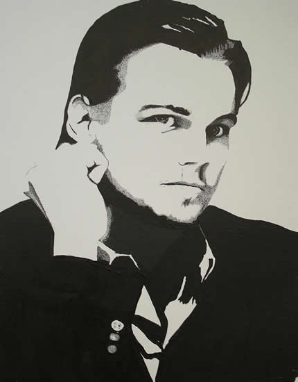 Leonardo DiCaprio Portrait - Surrey Artist Chris Cunningham - Portrait Artist - Commissions Invited for Paintings of Film Stars, Rock Stars, Anyone Else