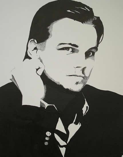Leonardo DiCaprio Portrait - Surrey Artist Chris Cunningham - Portrait Artist - Commissions Invited for Paintings of Film Stars, Rock Stars, Anyone Else