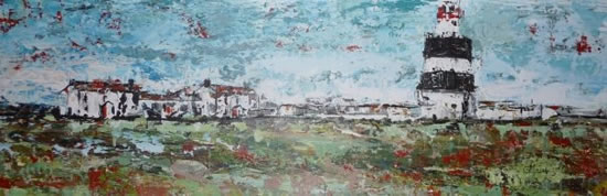 Lighthouse - Grainne Roche - Fine Artist - Byfleet Art Group - Woking Society of Arts - Surrey Art Gallery