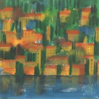 Limone, Italy – Hampshire Artist Jan Rippingham – Paintings in Acrylics – Surrey Art Gallery