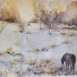 Lonely Pony – Hindhead Common – Surrey Artist Ingrid Skoglund – Guildford Art Society, Village Artists, Pirbright Art Club, Normandy Artists and West Surrey Artists