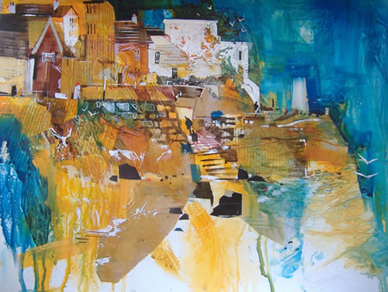 Lyme Regis, Dorset - Nagib Karsan - Artist in Watercolours, Mixed Media and Collage - Dorking Group of Artists