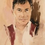 Man With Waistcoat – Kim Page – Paintings in Watercolour and Oil – Surrey Art Gallery – England