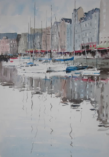 Marine Reflections - Kim Page - Paintings in Watercolour and Oil - Surrey Art Gallery - England