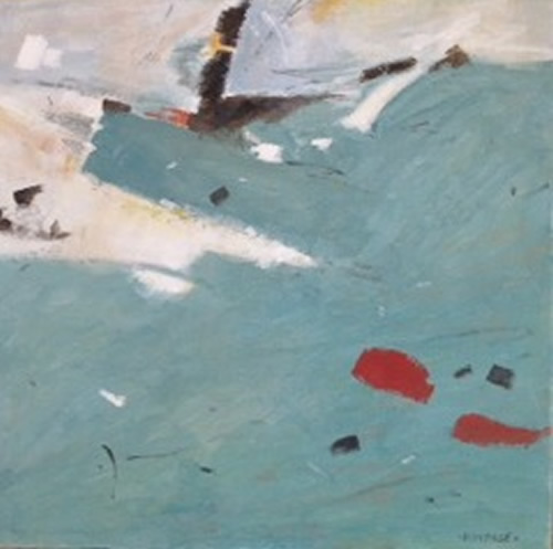 Mediterranean Blue - Kim Page - Paintings in Watercolour and Oil - Surrey Art Gallery - England